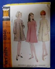 """Vintage sewing pattern 1960s Maternity Dress 34"""" bust McCalls 8946"""