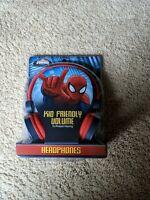NEW Spiderman Kid Friendly Headphones