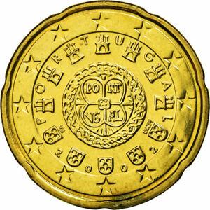 [#587441] Portugal, 20 Euro Cent, 2002, SUP, Laiton, KM:744