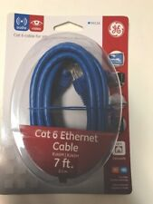 Ge Cat 6 Networking Cable Ethernet Rj45M 7 ft. Cable Internet Home/Office Sale!