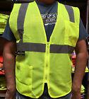 Radians 2 Pockets Green Mesh High Visibility Safety Vest, ANSI/ ISEA 107-2015