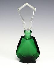 C.I.O. Collection Czech Bohemia Emerald Green Cut Crystal Perfume Bottle Flacon