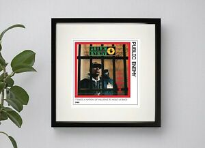 PUBLIC ENEMY - IT TAKES A NATION OF MILLIONS TO HOLD US BACK FRAMED PRINT
