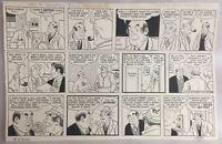 Micky Finn Comic Strip Original Art by Morris Weiss 1-31-1971