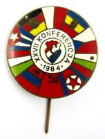 27th Conference of the Communist Countries in Poland 1984 Lapel Pin Badge