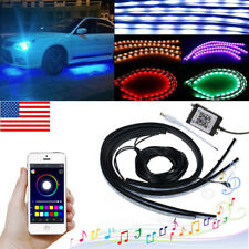 APP Control LED Strip Under Car Tube underglow Underbody System Neon Lights
