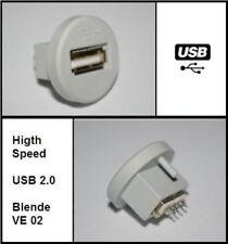 USB Einbaubuchse passend zu Möbeldesign Mercedes S500 VW Phaeton Lowboard HiFi