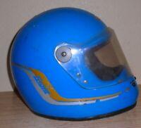 vintage Grant Full Face Motorcycle Helmet BLUE  Vintage 80s