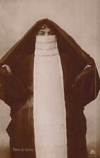 """RPPC,Middle East,Woman in Long Burqa,""""Dame du Harem"""",Publ.by OPF,Ethnic,c.1909"""