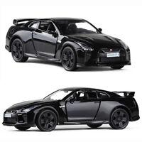 1:36 Nissan GTR R35 Sports Car Model Metal Diecast Toy Vehicle Kids Gift Black