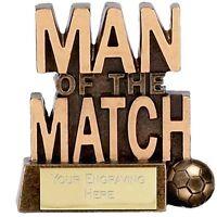 83mm Man of the Match Football Trophy,Award,FREE Engraving (A878) gw
