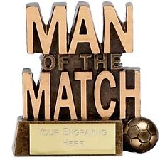 83mm Man of the Match Football Trophy,Award,FREE Engraving (A878) gw