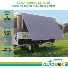 Coast 2.78m Kitchen Awning Privacy Sunscreen Shade for Jayco Dove Camper Trailer