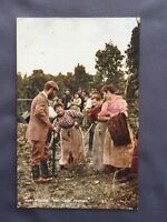 ±1910 HOP PICKING Pay Your Footing KENT Old Postcard Rural Life YOUNG & COOPER