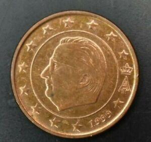Belgium, 5 Euro Cent, 1999, Fine details! Copper Plated Steel, KM:226