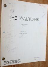 THE WALTONS ORIGINAL TV SERIES SHOW SCRIPT THE  OUTRAGE