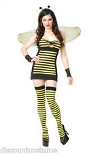 HOT STINGER HONEY BEE ADULT HALLOWEEN COSTUME WOMEN'S SIZE X-SMALL 3-5