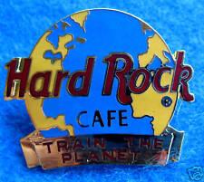 HRC INT STAFF *TRAIN THE PLANET* EARTH AWARD GOLD GLOBE Hard Rock Cafe PIN