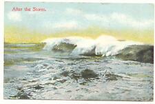 1915 AFTER THE STORM Surf ATLANTIC CITY NJ Postcard