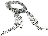 Vintage Burlesque Deco Flapper Beaded Glass Lariat Scarf Tie Necklace Waist Belt