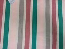 """Per Yard x 26.5"""" Vintage Kalkstein Silk Mills Pink/Green/Wine/Gray/White Fabric"""