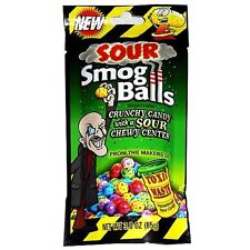 Toxic Waste Sour Candy - SOUR SMOG BALLS - 3 oz - TWO PACK - FRESH - BEST PRICE
