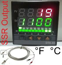 Professional PID Temperature Controller Oven Kiln °F°C Fahrenheit Display SSR TC