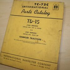 Ih International Td 15 Series 150 Tractor Crawler Parts Manual Book Catalog List