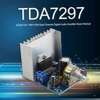 TDA7297 AC/DC12V Dual Channel Digital Audio Stereo Module Home Amplifier Board
