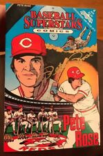 Pete Rose Signed Baseball Superstars Comic Book *Cincinnati Reds Autographed F2
