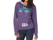 KangaROOS Damen Hoody Sweatshirt m Print Baumwolle/Polyester lila mel. Gr. 32/34