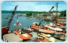 LAKE COEUR d'ALENE, Idaho ID ~ DIAMOND CUP RACES Hydroplane Boats 1958  Postcard