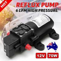 12V Water Pump 130PSI High Pressure Diaphragm 6L/min For RV Caravan Boat Camping