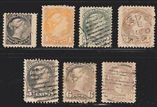 1870-1893 Canada SC# 34-40-Small Queen Issue-Queen Victoria-Lot CU94-Used set