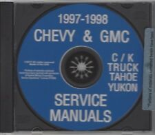 GMC & CHEVROLET 1997 1998 Pick Up Truck, Blazer, Yukon & Suburban Shop Manual CD