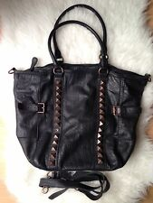 Liebeskind Berlin New York Handtasche Tasche Shopper Bag schwarz Nieten studded
