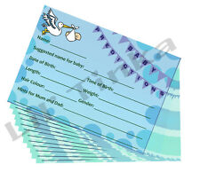 Baby Shower Prediction Advice Cards - 20 Pack - Blue Boy - Keepsake Party Game