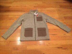 Marmot Gilcrest Sz Large Full-Zip Jacket Oatmeal Heather/Cavern NWT $135