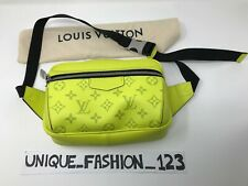 LOUIS VUITTON OUTDOOR BUMBAG YELLOW M30251 MAN BAG SMALL MONOGRAM LEATHER SS19