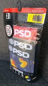 PSD Premium Boxer Briefs, 3-Pack, Mens Small, Rubber Duck, Size 28-30