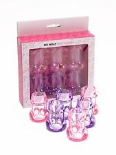 Ann Summers Six Willy Shot Glasses Pink & Purple Funny Sexy Party Novelty Gift