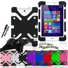 """Silicone Stand Cover Case For 7"""" 8"""" 10"""" Acer Iconia  One/Tab Tablet + stylus"""