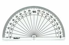 Helix 10cm 180 Degree Clear Protractor H01010 Single