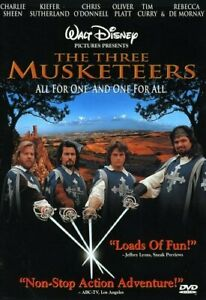 Brand New Disney DVD The Three Musketeers 1999 Charlie Sheen Tim Curry Oliver