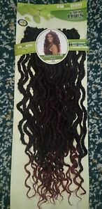 "18"" Goddess Faux Locs Crochet Braids Hair Curly Ends Dreadlocks 30 strands /pck"