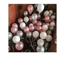 10-100 Pink Purple White Hot Pink Silver Pearl Balloons Wedding Birthday Baloons