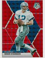 2020 Panini Mosaic Roger Staubach Red Prizm Card # 65 Dallas Cowboys HOF