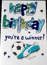 Football Male/Boys Birthday Card by Eclipse.