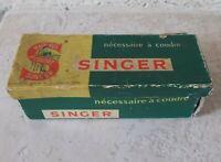 Vintage french bicycle sewing kit SINGER advertising carton box France cardboard