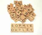 100Pcs Mix Wooden  Tiles Letters Craft Alphabet Board Game Fun Toy Gift